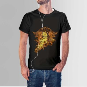 Red Indian T Shirt Black