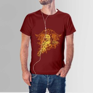 Red Indian T Shirt Maroon