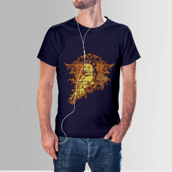 Red Indian T Shirt Navy Blue
