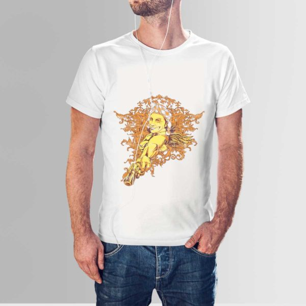 Red Indian T Shirt White