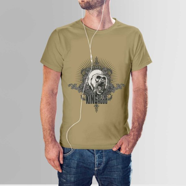 King Of The Hood T Shirt Khaki
