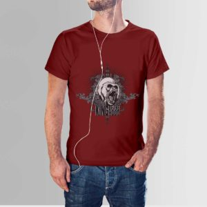 King Of The Hood T Shirt Maroon