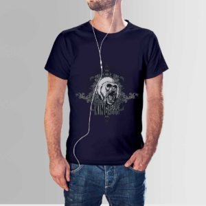 King Of The Hood T Shirt Navy Blue