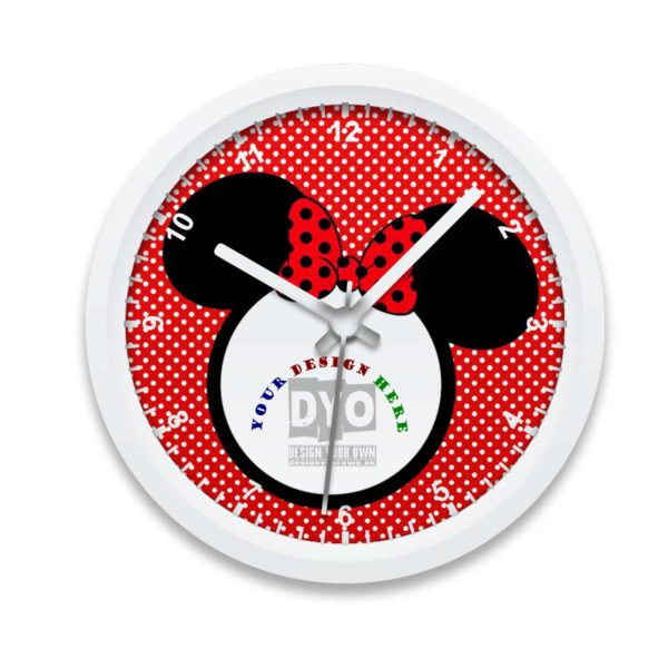 Minnie design your own gift for girls wall clock