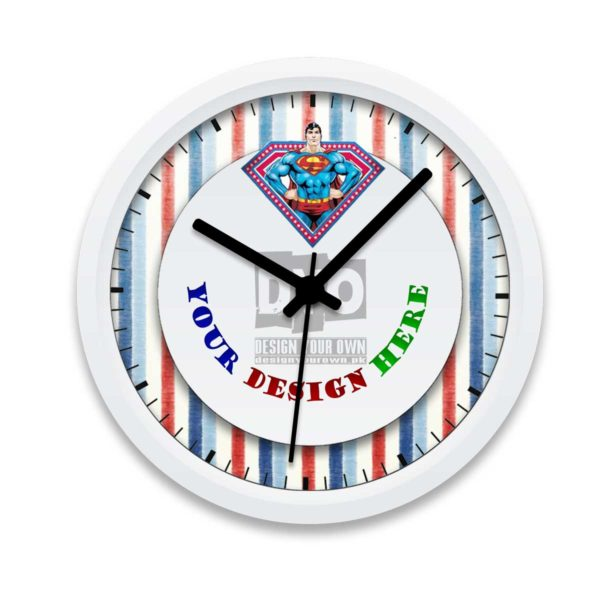 superman design your own gift for boys wall clock