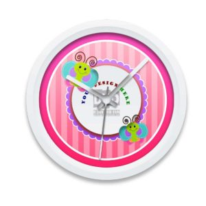 Butterfly stroke design your own new baby gift wall clock