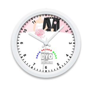 Intimate custom Wedding/Engagement gift wall clock