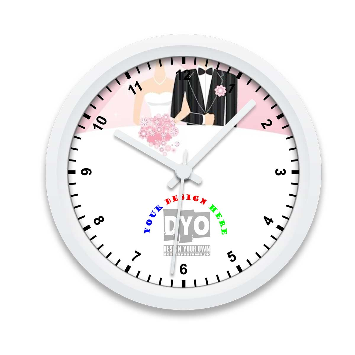 Intimate Custom Wedding Engagement Gift Wall Clock