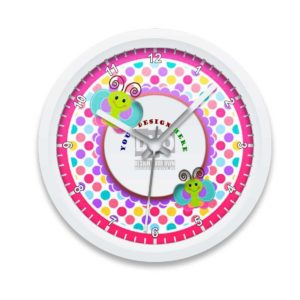 Custom Printed Wall Clock for Kids