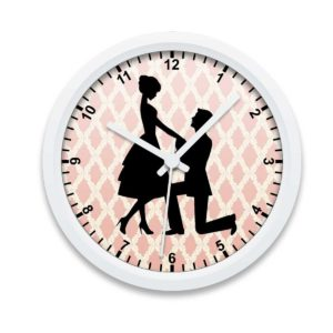 Engagement Custom Printed Wall Clock