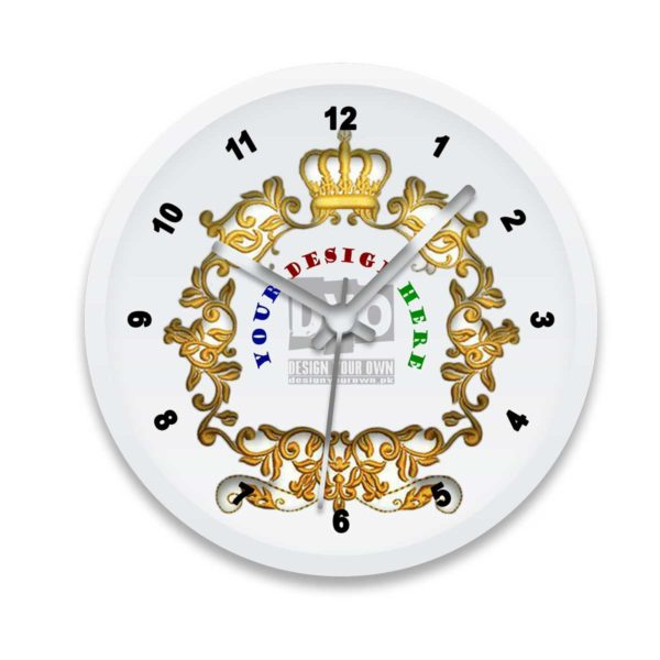 Royal Gold Custom Wall Clock