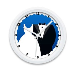 Bride Groom Wedding Gift Wall Clock