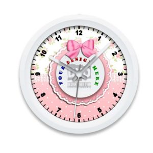 Custom Printed Girls' Wall Clock