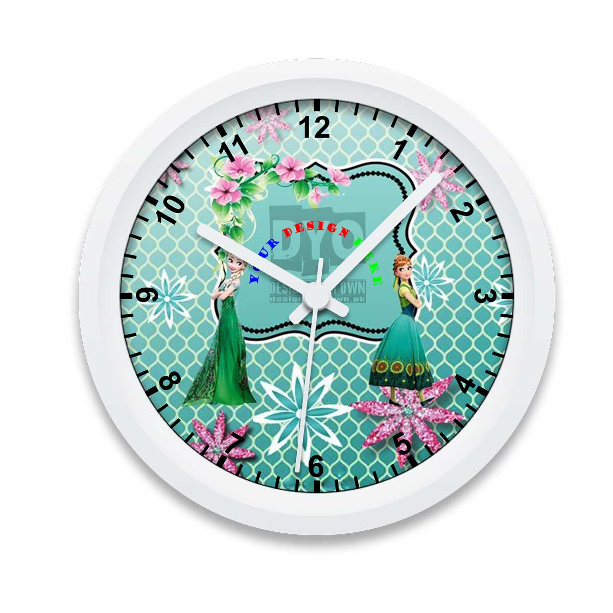 Custom Printed Gift Wall Clock For Girls Design Your Own