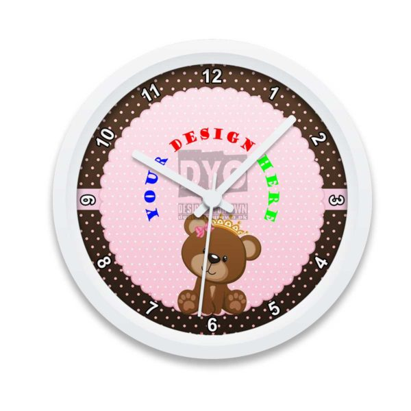 Kids' Custom Printed Wall Clock