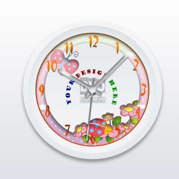 Custom Printed Kids' Room Wall Clock