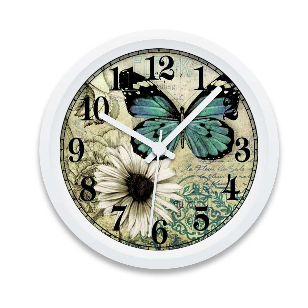 Custom Printed Butterfly Wall Clock Design Your Own