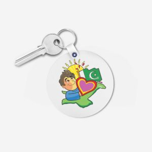Pakistan key chain 2 - Round