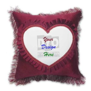 Design Your Own Cushion Heart Design for Gift