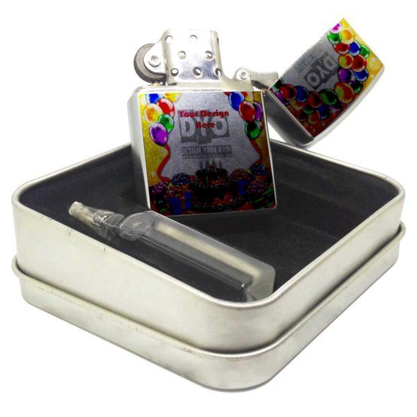 Zippo Style Wind Proof Custom Birthday Gift Cigarette Lighter