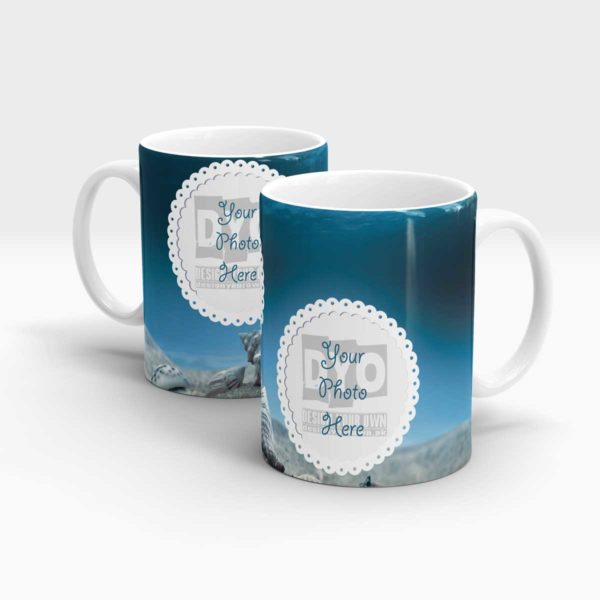 Blue Colored Customized Coffee Mug