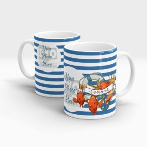 BLUE STRIPES SUMMER CUSTOM GIFT MUG