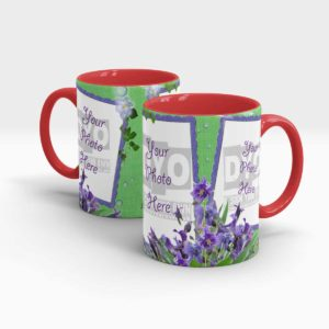 Iris Themed Customized Engagement Gift Mug