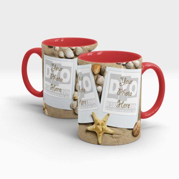 Sand and Sea Shells Personalized Coffee Mug