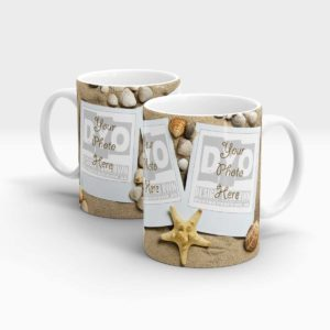 Sand and Sea Shells Personalized Coffee Mug