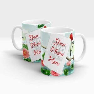 Red Water Lilly Theme Custom Mug