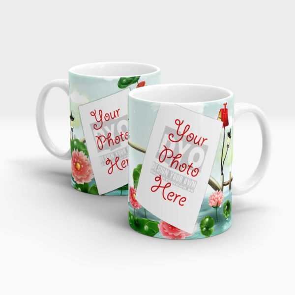 Red Water Lilly Theme Custom Mug