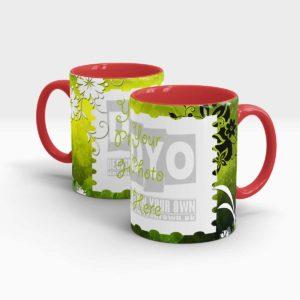 Elegant Green Custom Mug