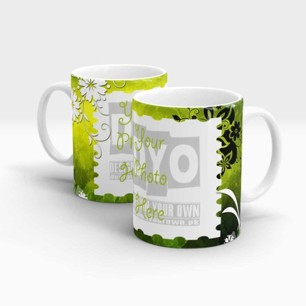 Elegant Green Custom Mug