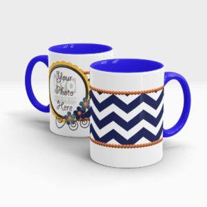 Horizontal Blue Stripes Custom printed Gift Mug