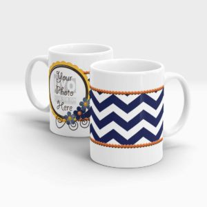 Horizontal Blue Stripes Custom printed Gift Mug