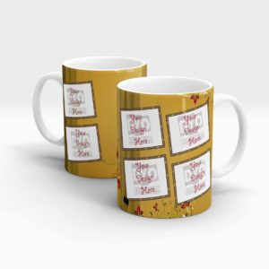 Brown Coffee Mug Series Multiple Photo-holders