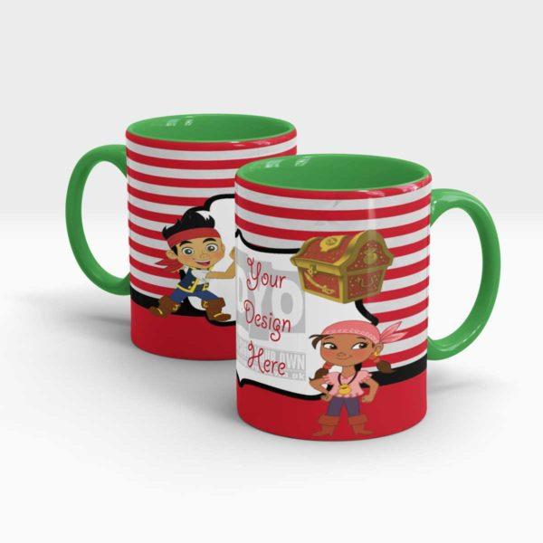 Treasure Hunter Custom Printed Mugs for Kids