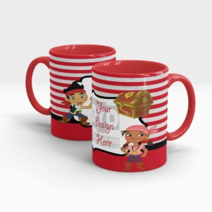 Treasure Hunter Custom Printed Mugs for Kids
