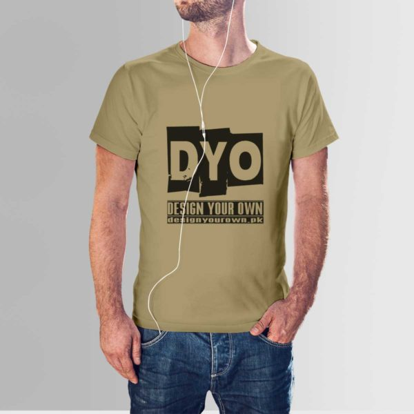 Design Your Own Custom T-Shirt Crew Khaki