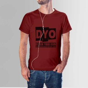 Design Your Own Custom T-Shirt Crew Maroon