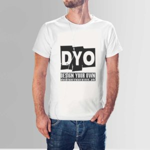 Design Your Own Custom Cotton T Shirt Crew Neck White