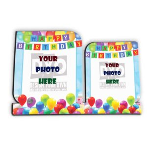 Happy Birthday Custom Wooden Sheet Photo Frame (HBD-01)