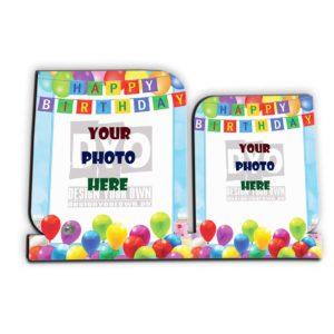 Happy Birthday Custom Wooden Sheet Photo Frame (HBD-01)
