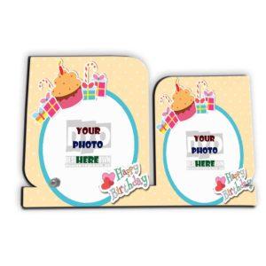 Happy Birthday Custom Wooden Sheet Photo Frame (HBD-02)