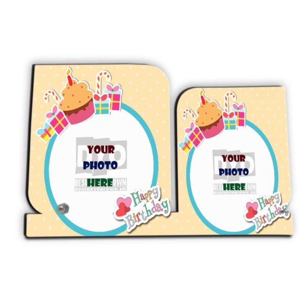 Happy Birthday Custom Wooden Sheet Photo Frame (HBD-02)
