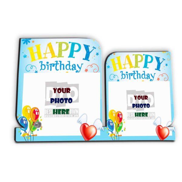 Happy Birthday Gift Custom Wooden Sheet Photo Frame (HBD-04)