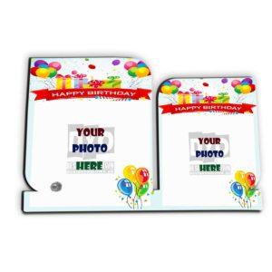 Happy Birthday Gift Custom Wooden Sheet Photo Frame (HBD-06)