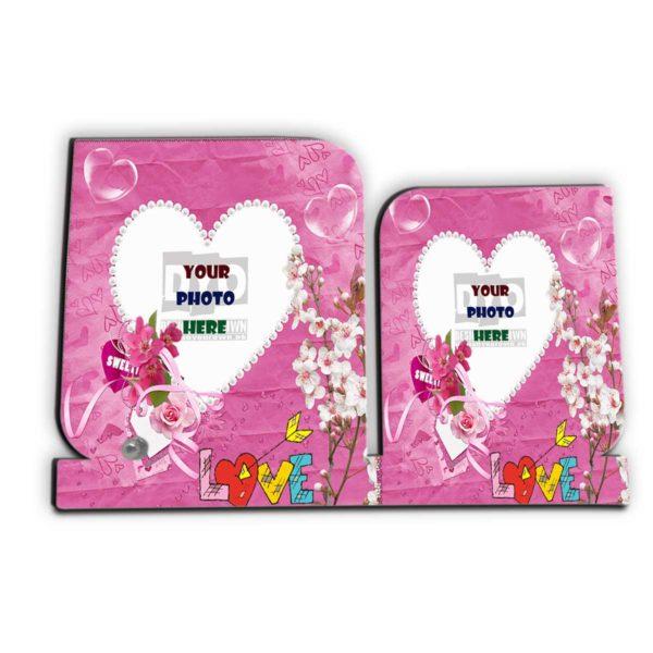 Sweet Heart Custom Wedding Gift Wooden Sheet Photo Frame