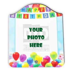 Happy Birthday Gift Custom Wooden Sheet Photo Frame (FR-02-HBD-01)