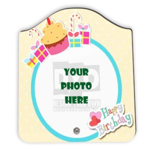 Happy Birthday Gift Custom Wooden Sheet Photo Frame (FR-02-HBD-02)